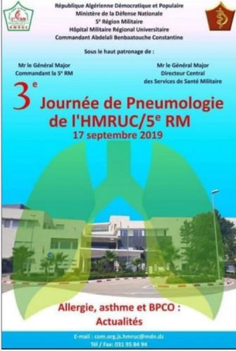 3ème Journée de pneumologie de lHMRUC/ 5e RM - 17 septembre 2019