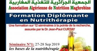 Séminaire de Formation en NUTRITHERAPIE-les 27-28 Septembre 2019, au Palais de la culture Moufdi Zakaria –Alger