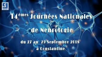 14èmes Journées Nationales de Neurologie - 27 au 29 Septembre 2018 à Constantine