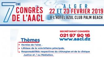 7éme Congrès de l'AACL-22 et 23 Février 2019