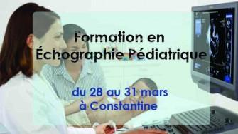 Formation en Échographie Pédiatrique - 28 au 31 mars à Constantine