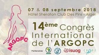 14ème Congrès International d'ARGOPC - 07 et 08 Septembre 2018 à Alger