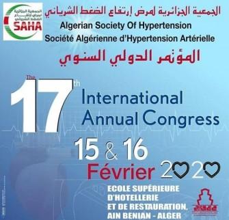 17ème congrès international de la Société algérienne dhypertension artérielle- Les 15 et 16 février 2020- Alger