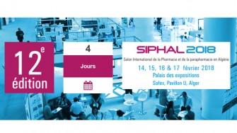 12ème édition du Salon International de la Pharmacie et de la Parapharmacie (SIPHAL) - 14 au 17 Février 2018 à Alger