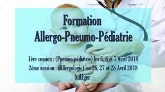 Formation Allergo-Pneumo-Pédiatrie, 5 au 28 Avril 2018 à Alger