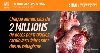 31 Mai Journée mondiale sans tabac : Le tabac vous brise le cœur !