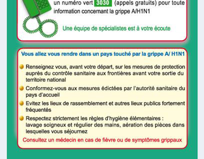 CONSIGNES : GRIPPE PORCINE, GRIPPE A(H1N1)