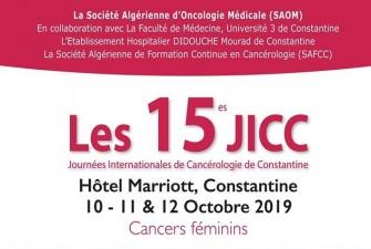 Les 15èmes Journées Internationales De Cancérologie-Les10, 11,12 OCTOBRE 2019, Constantine