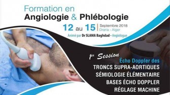 Formation en angiologie et phlébologie - 12 au 15 Septembre 2018 à Alger