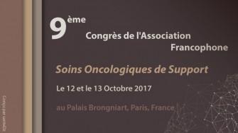 9ème congrès de l'Association Francophone pour les Soins Oncologiques de Support
