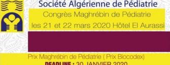 41ème congrès maghrébin de pédiatrie-Les 21,22 mars 2020- Alger