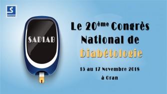 20ème Congrès National de Diabétologie - 15  au 17 Novembre 2018 à Oran