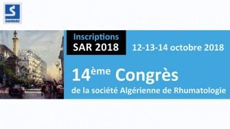 14ème Congrès de la Société Algérienne de Rhumatologie - 12 au 14 octobre 2018 à Alger